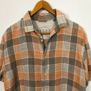 Tommy Bahama Relax Men Checked Multi-Color Large